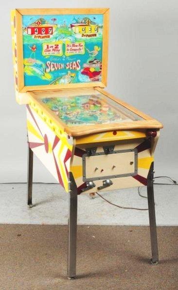 Gottlieb's Seven Seas Pinball Machine with Keys.