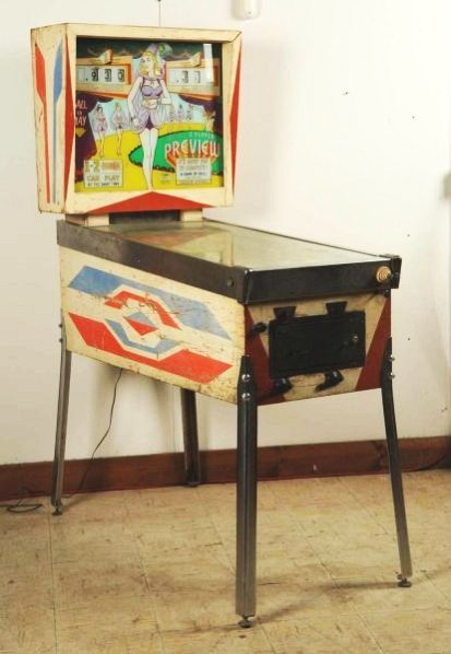 1960s Gottlieb Preview Pinball Machine (1962).