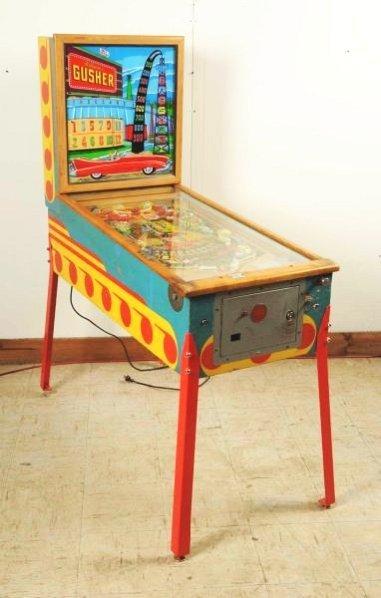 Williams Gusher Pinball Machine (1958).