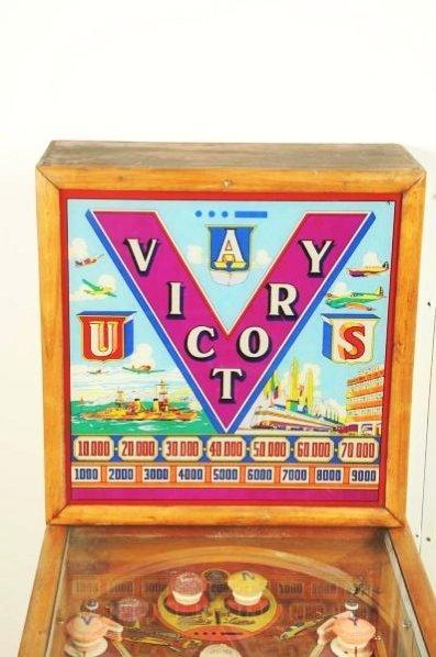 Genco Victory Pinball Machine (1941). - 4