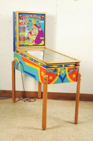 Gottlieb Coronation Pinball Machine (1952).