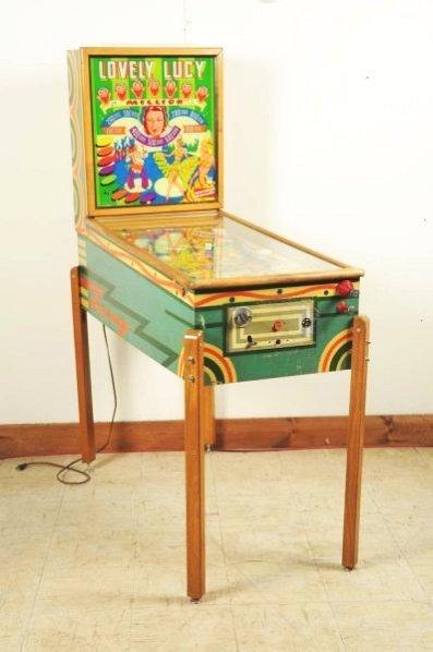 Gottlieb Lovely Lucy Pinball Machine (1954).