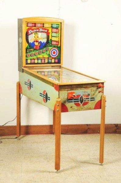 Gottlieb Lady Robin Hood Pinball Machine (1948).