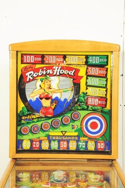 Gottlieb Lady Robin Hood Pinball Machine (1948). - 4