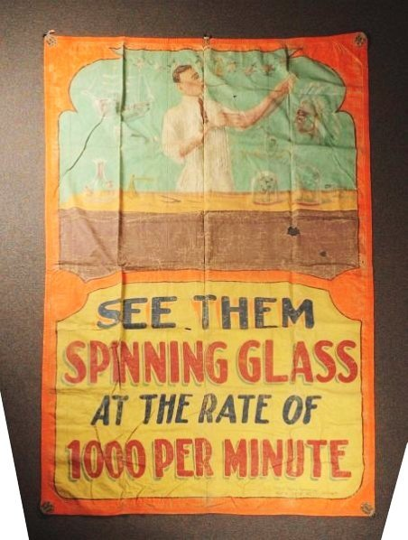 Lot of 2: Large Sideshow Canvas Banners.