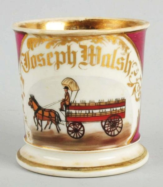 Horse Drawn Bottle Delivery Wagon Shaving Mug.
