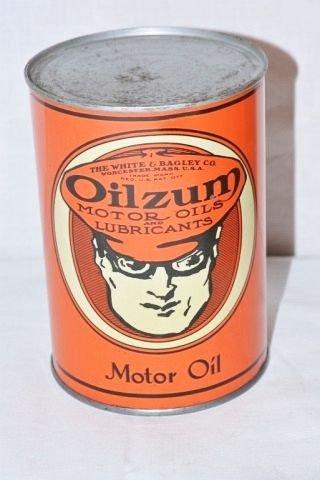 Oilzum Motor Oil Can.