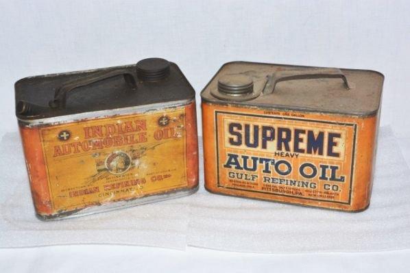 Gulf Supreme & Indian Automobile Motor Oil.