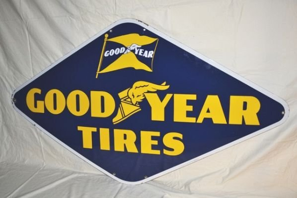 Goodyear Tires with Winged Foot & Flag Logos.