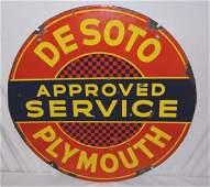 Desoto Plymouth Approved Service.