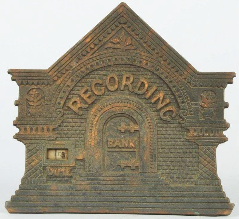 Cast Iron Recording Registering Bank Still Bank.