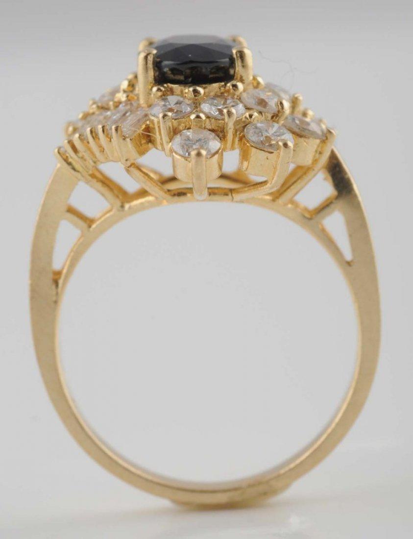 18K YG Emerald Diamond Ring.