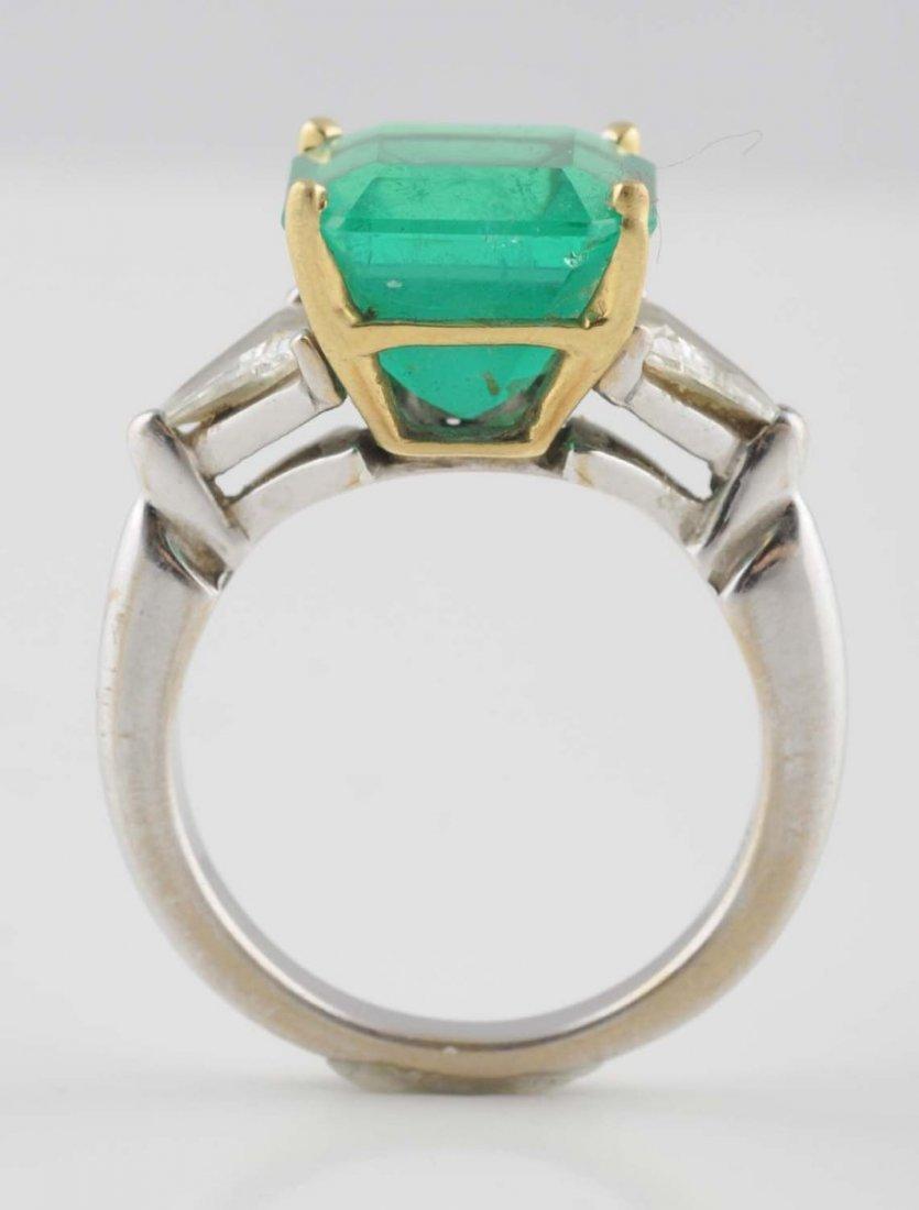 18K YG Emerald Ring.