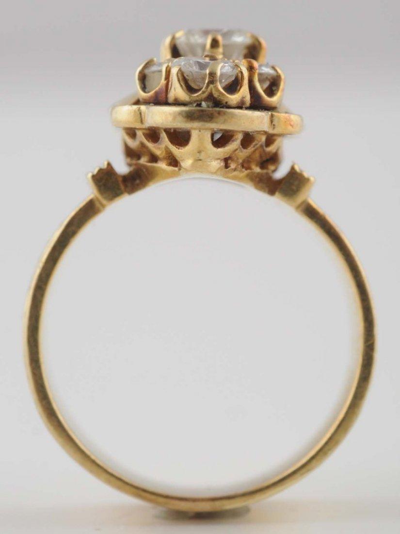 14K YG Diamond Ring.