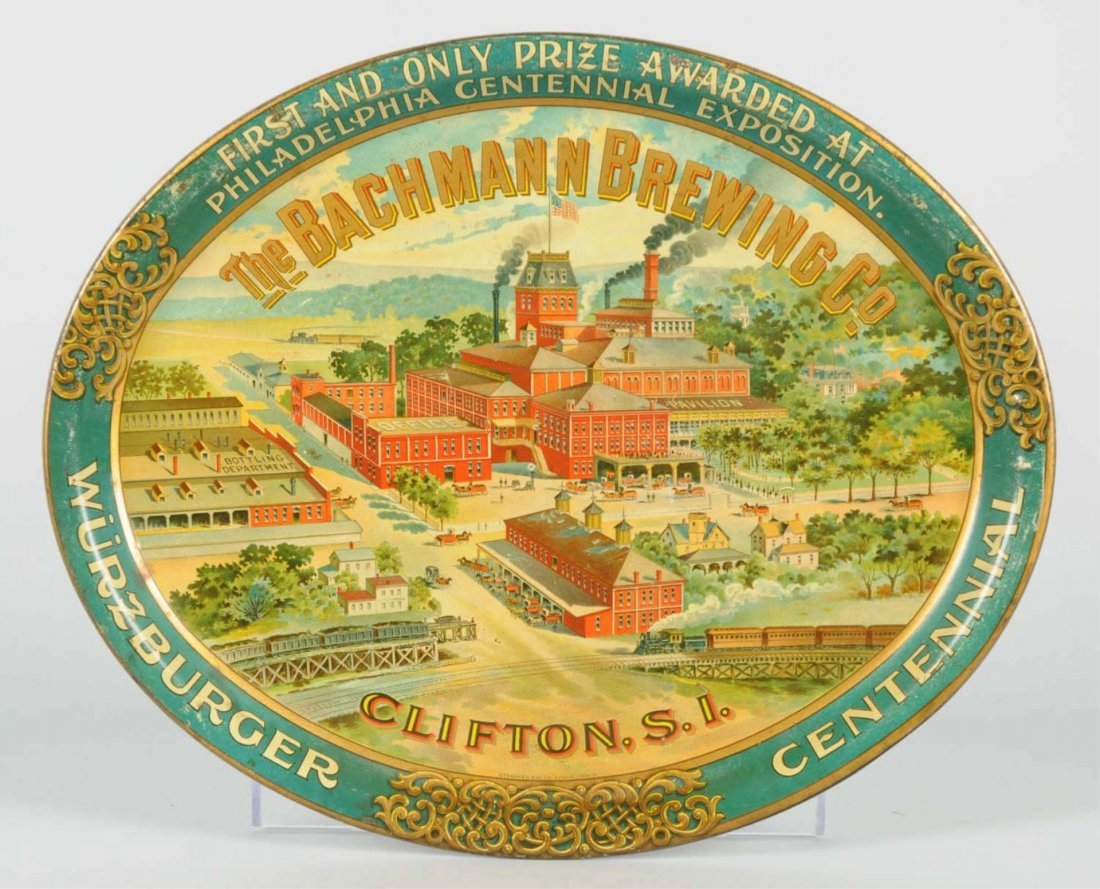 The Bachmann Brewing Co. Serving Tray.
