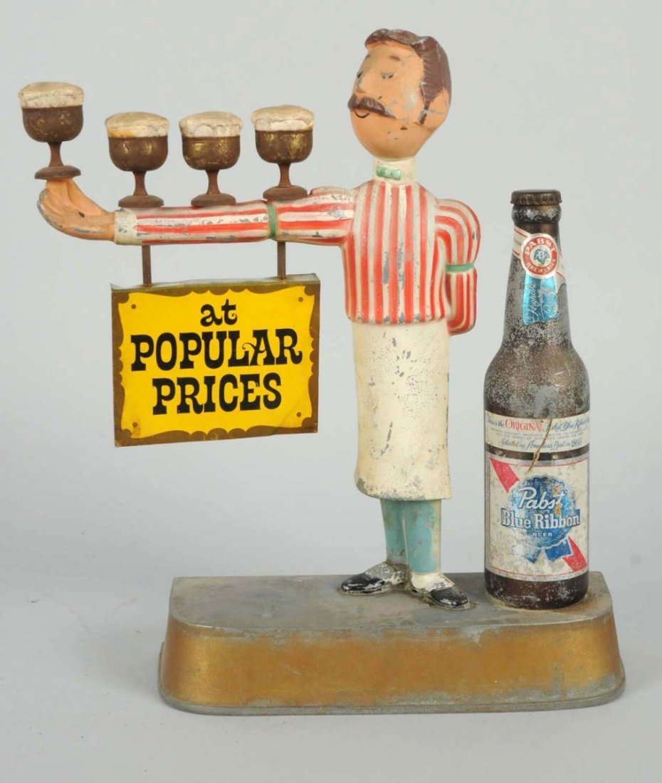 Pabst Blue Ribbon Beer Display Advertising.