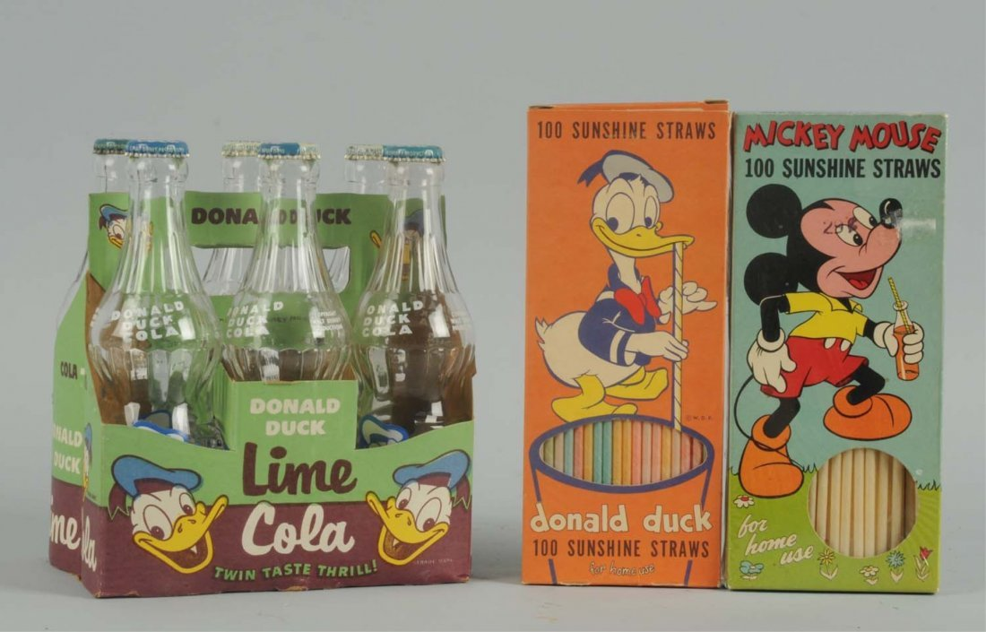 Donald Duck 6-Pack with 2 Boxes of Straws.