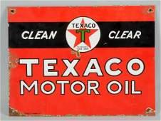 Texaco (Black-T) Motor Oil Sign.