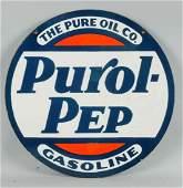 Purol Pep Gasoline Sign.