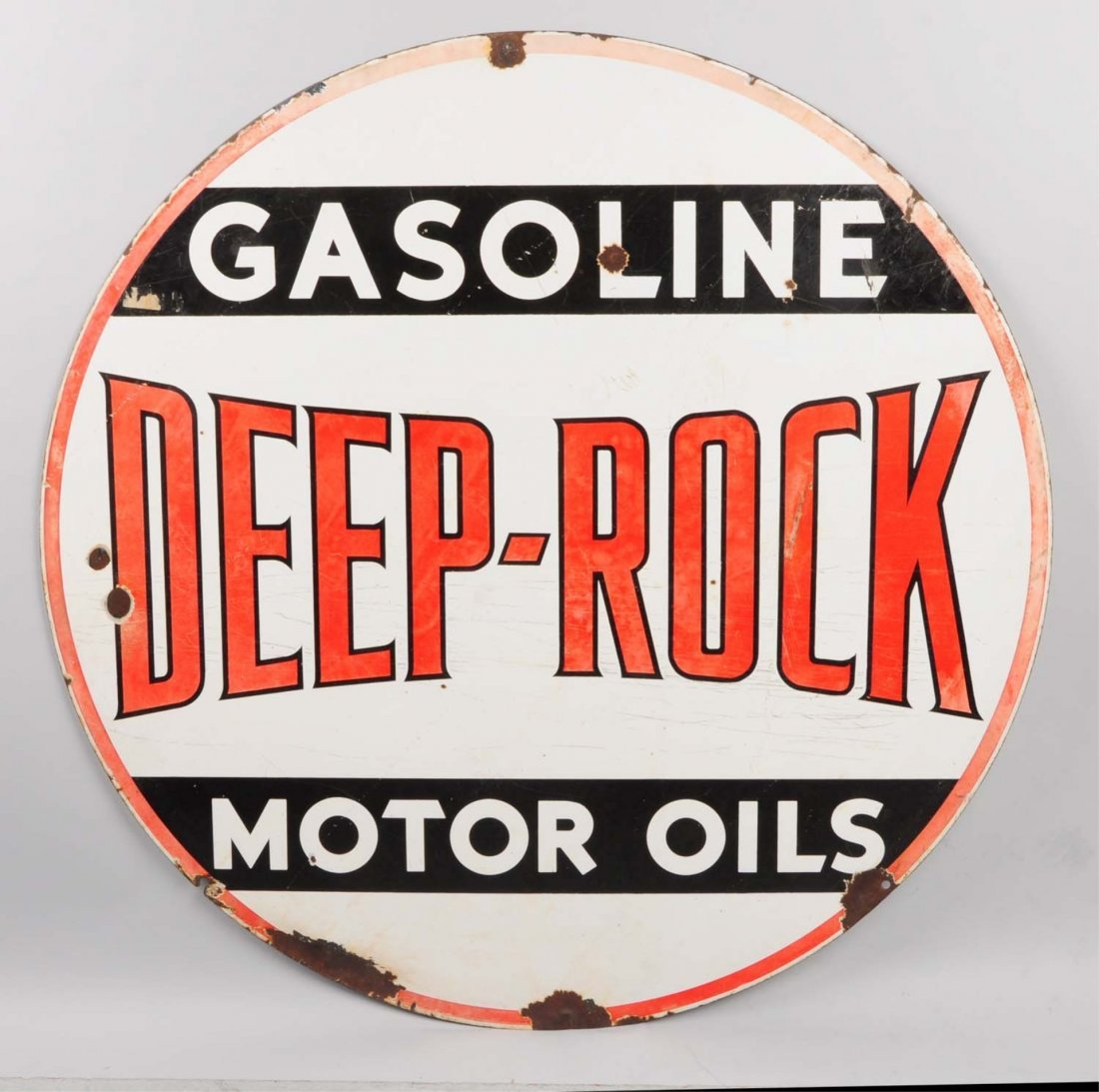 Deep Rock Gasoline Motor Oil Sign.