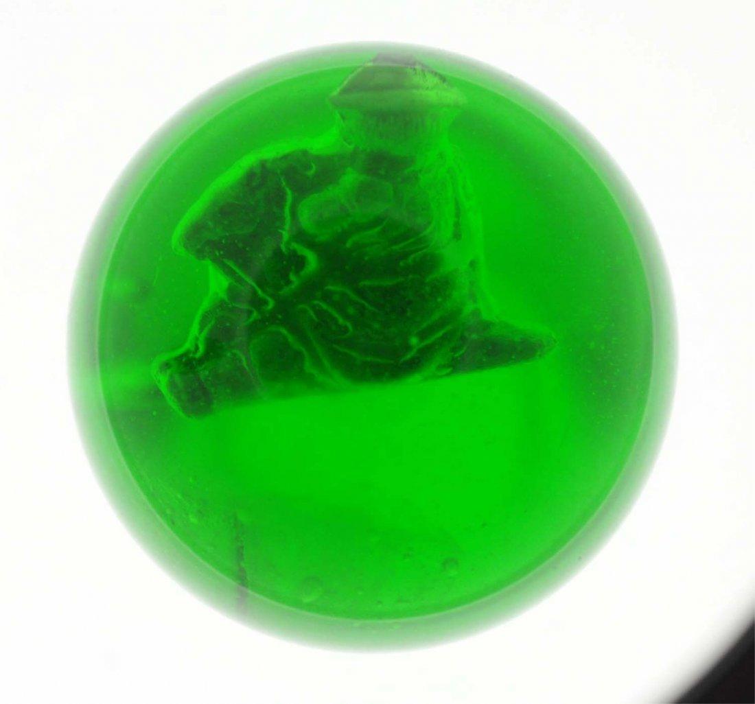 Green Glass Boy on Rocking Horse Sulfide.