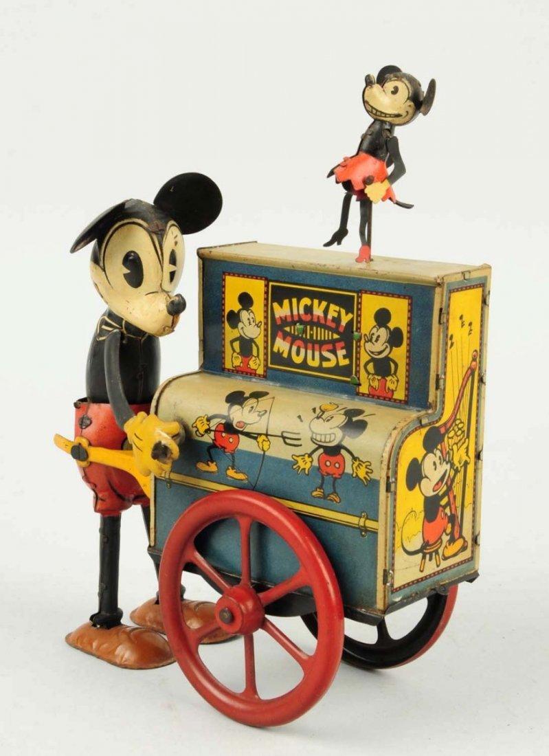 Distler Walt Disney Mickey Mouse Hurdy Gurdy Toy.
