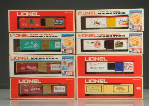 Lot of 8: Lionel Tobacco Cars