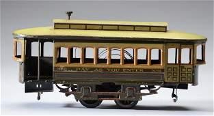 German Bing Clockwork Trolley Toy.
