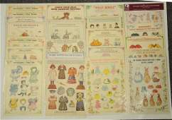 Large Lot of Assorted Paper Doll Sets