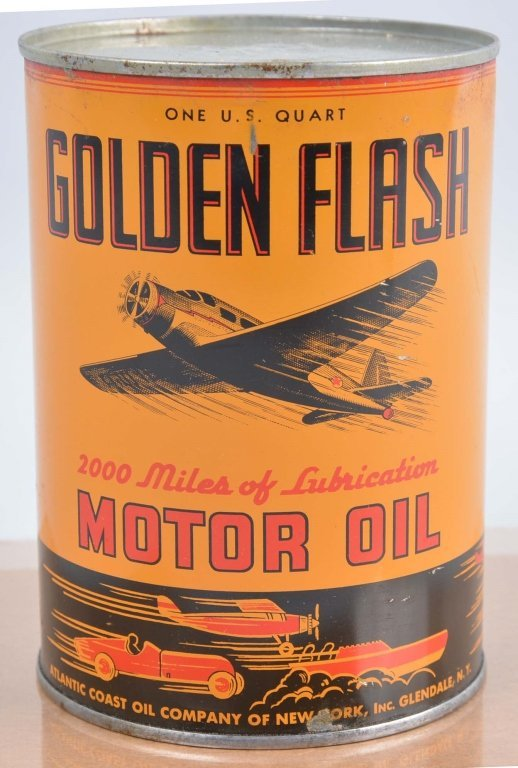 Golden Flash Motor Oil Can.