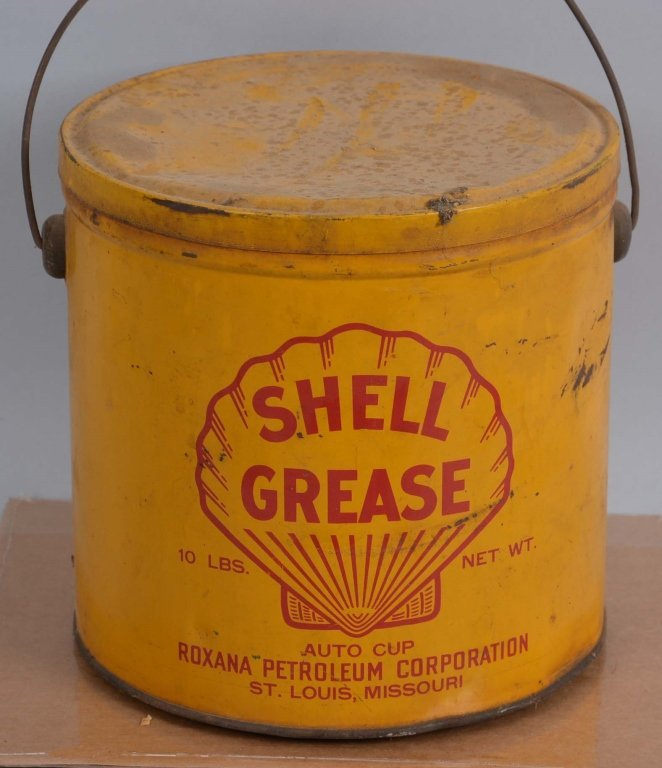 Shell Grease (Roxana) 10 Pound Round Metal Can.