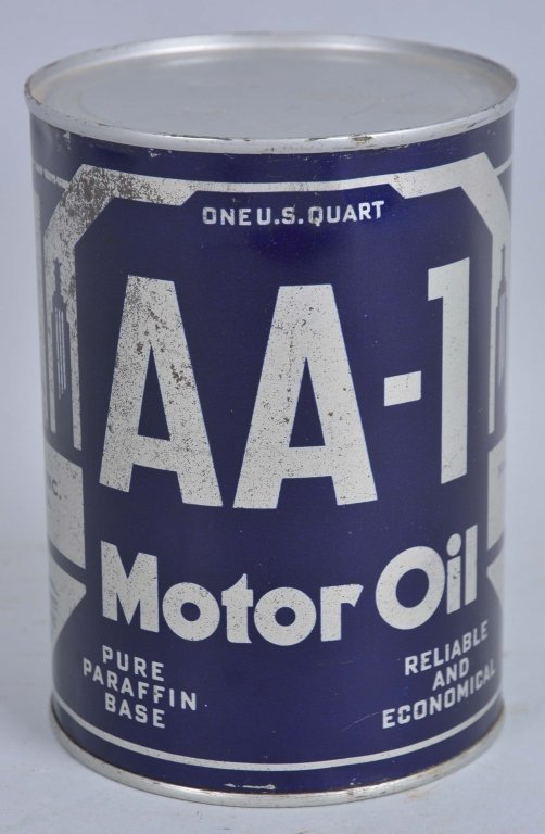 AA-1 Motor Oil One Quart Can.