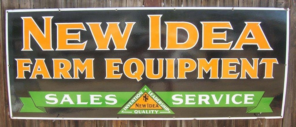 New Idea Farm Equipment Porcelain Sign.