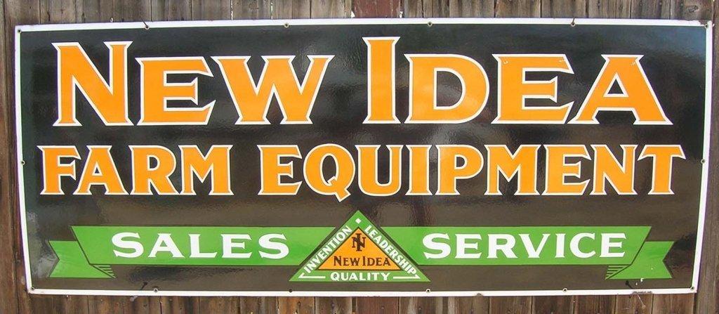 New Idea Farm Equipment Porcelain Sign. - 2