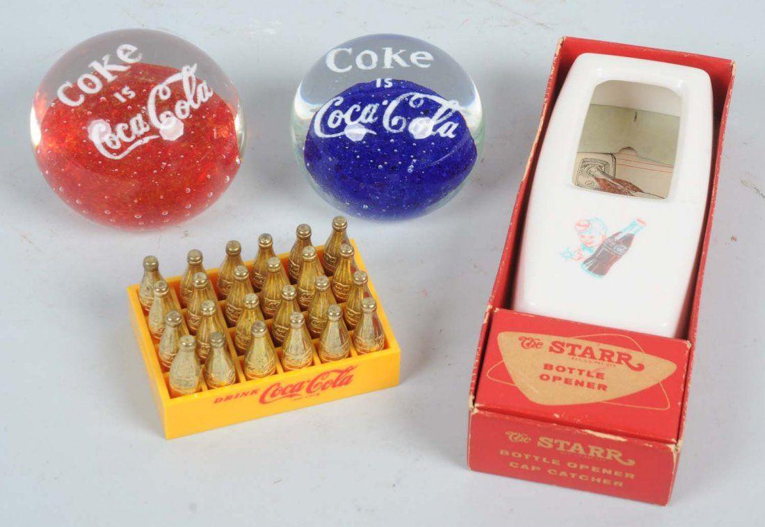 Lot of 4: Coca-Cola Items.