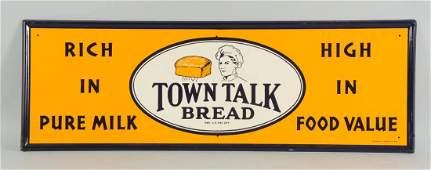 1938 Town Talk Bread Tin Sign