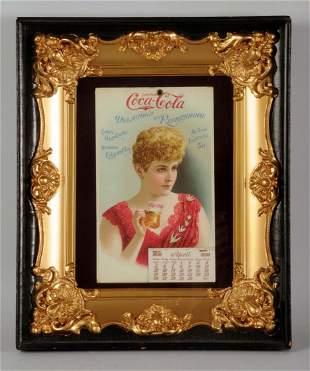 Remarkably Stunning 1896 Coca-Cola Calendar.