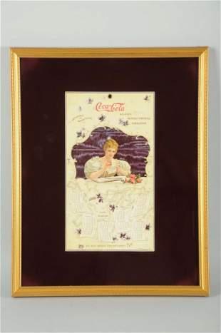 Rare & Beautiful 1900 Coca-Cola Calendar.