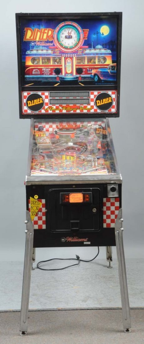 1990 Williams Diner Pinball Machine.