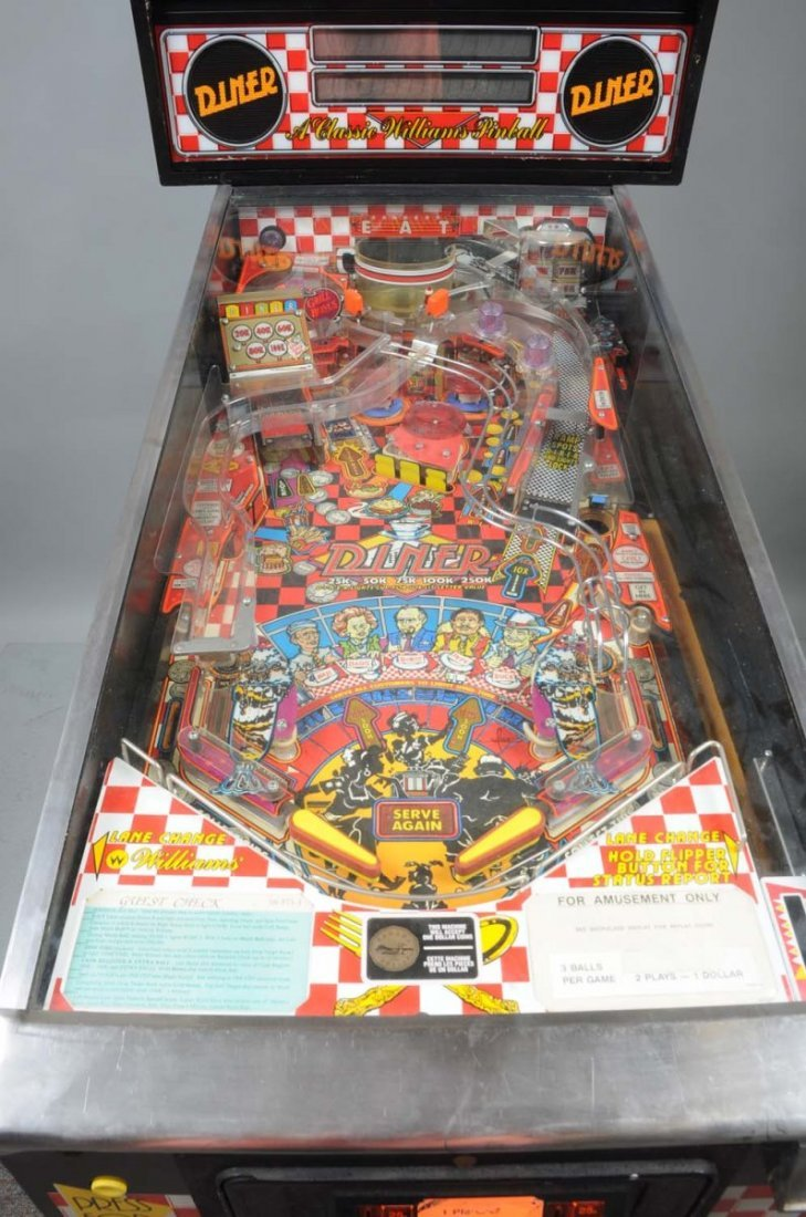 1990 Williams Diner Pinball Machine. - 4