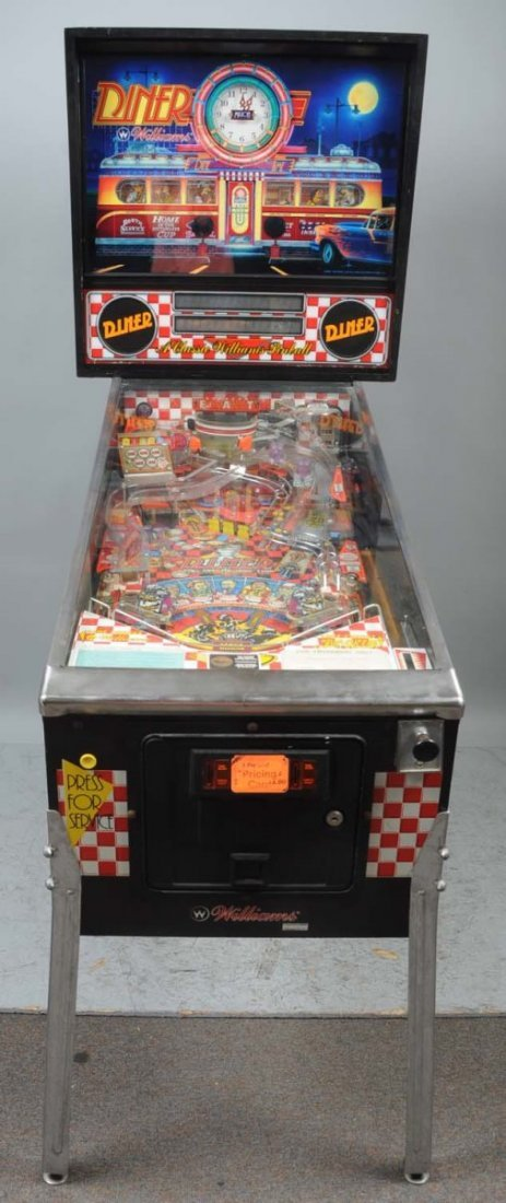 1990 Williams Diner Pinball Machine. - 5