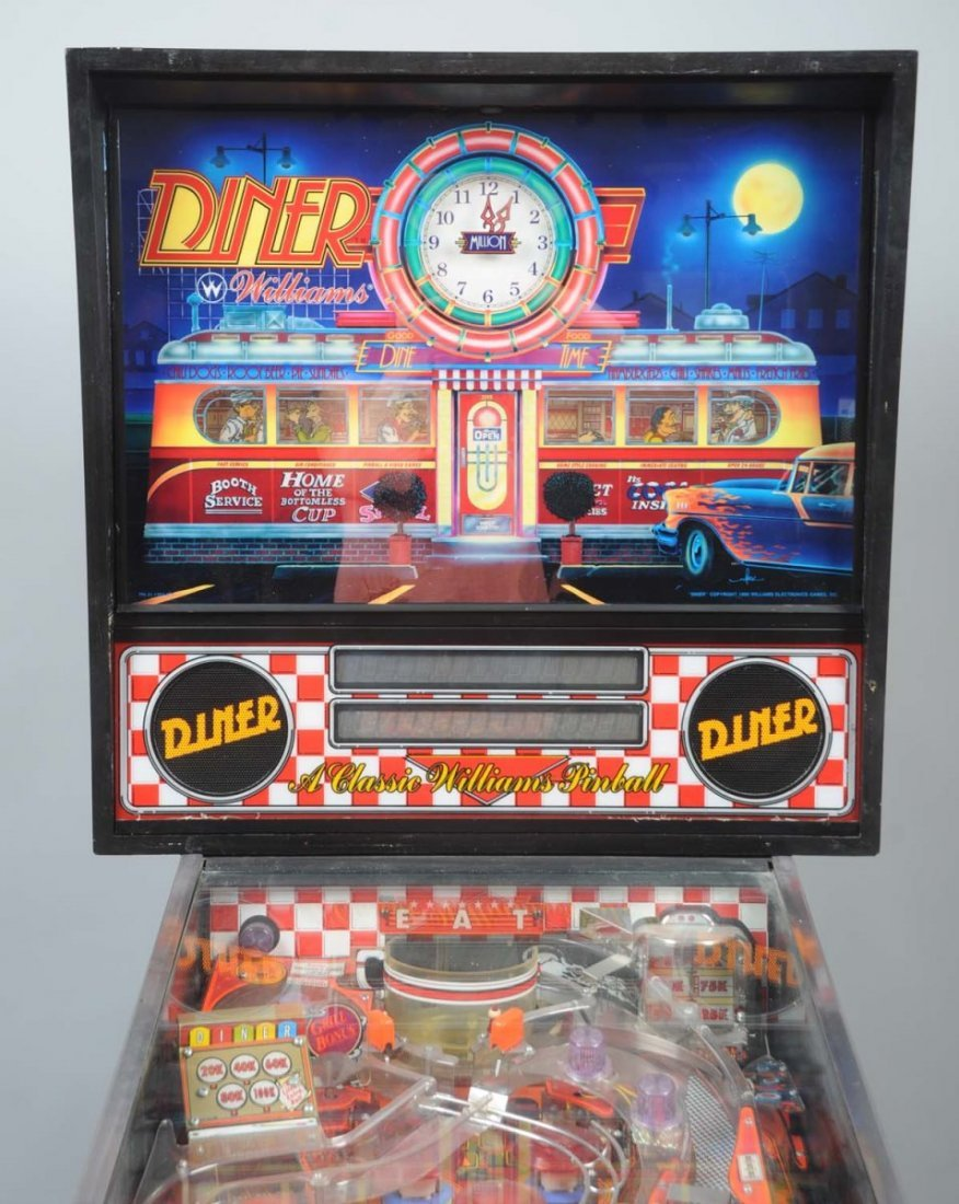 1990 Williams Diner Pinball Machine. - 6