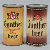 Lot of 2: Gunther's Flat Top Beer Cans.