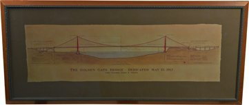 The Golden Gate Bridge Architectural Drawing Print.