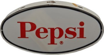 Pepsi & Pepsi Cola Double-Sided Oval Light-Up Plastic.