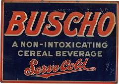 Buscho SingleSided Hanging Tin Advertising Sign