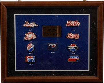 "Pepsi Cola ""The Pepsi Logo Revolution 1898-1998"" Pin."