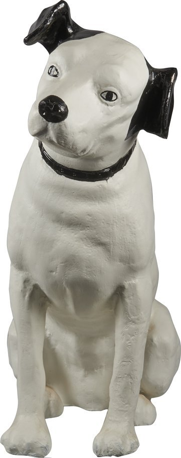 """RCA Victor """"Nipper"""" Dog Figural Paper Mache Statue."""