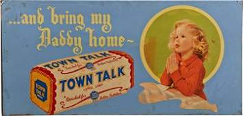 Town Talk Large Loaf Bread Tin Advertisement Sign
