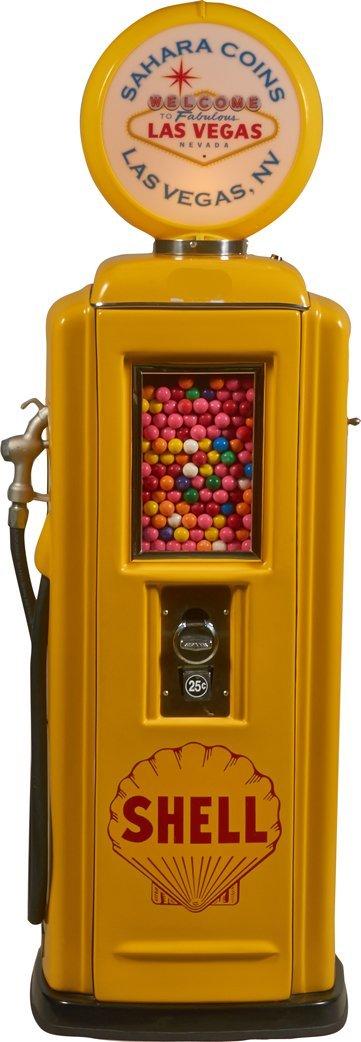 25 Cent Shell Gas Pump Gum Ball Vending Machine.